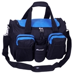 #S223/ROYAL BLUE BLACK/CASE - 18-inch Gym Bag with Wet Pocket - Case of 20 Gym Bags