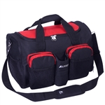 #S223/RED BLACK/CASE - 18-inch Gym Bag with Wet Pocket - Case of 20 Gym Bags